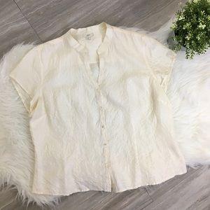 J. Jill 100% Silk Blouse - Large
